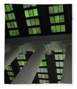 Column Stain Green Fleece Blanket