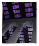 Column Stain Purple Fleece Blanket