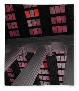 Column Stain Red Fleece Blanket