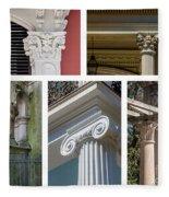 Columns Of New Orleans Collage 2 Fleece Blanket