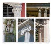 Columns Of New Orleans Collage Fleece Blanket