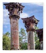 Columns Of Windsor Ruins Fleece Blanket