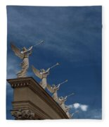 Come Blow Your Horn - Angels And Trumpets - Caesars Palace Las Vegas Fleece Blanket
