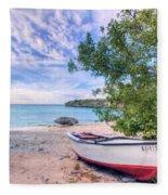 Come To Curacao Fleece Blanket