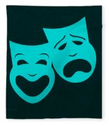 Comedy N Tragedy Aquamarine Fleece Blanket