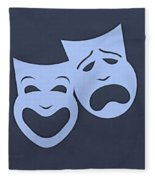 Comedy N Tragedy Cyan Fleece Blanket