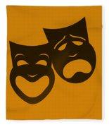 Comedy N Tragedy Orange Fleece Blanket