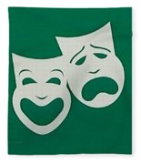 Comedy N Tragedy Original Fleece Blanket