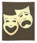 Comedy N Tragedy Sepia Fleece Blanket