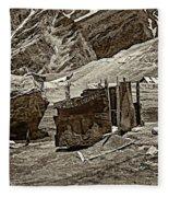 Comfort Station Sepia Fleece Blanket