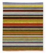 Comfortable Stripes Vl Fleece Blanket