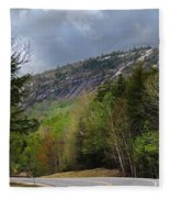 Comin Around The Bend In Campton New Hampshire Fleece Blanket