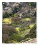 Coming Down The Hill Fleece Blanket