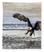 Coming In For The Catch Fleece Blanket