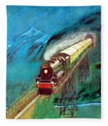 Coming Through The Tunnel Fleece Blanket