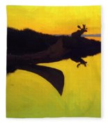 Coming To The Call 1905 Fleece Blanket