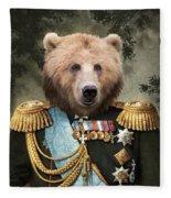 Commander Bear Fleece Blanket
