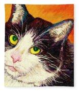 Commission Your Pets Portrait By Artist Carole Spandau Bfa Ecole Des Beaux Arts  Fleece Blanket