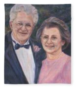 Commissioned Portrait Painting Fleece Blanket
