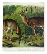Common Deer Fleece Blanket