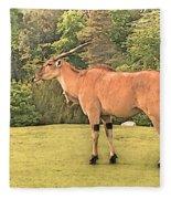 Common Eland Fleece Blanket