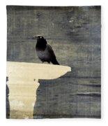Common Grackle Fleece Blanket