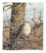 Common Mockingbird Fleece Blanket