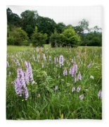 Common Spotted Orchids Fleece Blanket