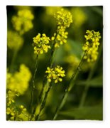 Common Wintercress Flowers Fleece Blanket