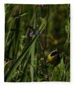 Common Yellow Throat Fleece Blanket