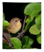 Common Yellowthroat Warbler Fleece Blanket
