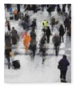 Commuter Art Abstract Fleece Blanket