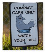 Compact Cars Only Sign Fleece Blanket
