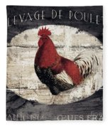 Compagne IIi Rooster Farm Fleece Blanket