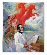 Composer Felix Mendelssohn Fleece Blanket