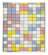 Composition With Grid Ix Fleece Blanket