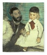 Comte Le Pic And His Sons Fleece Blanket