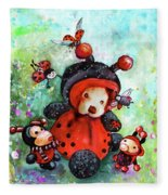 Comtessine Coccinella De Lafontaine Fleece Blanket