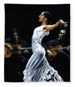 Concentracion Del Funcionamiento Del Flamenco Fleece Blanket