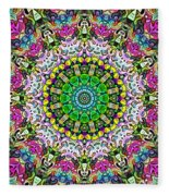 Concentric Colors Abstract Fleece Blanket