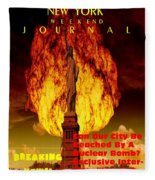 Concept Magazine Cover For The Imaginary New York Weekend Journal 5 Jan 2018 V2 Fleece Blanket