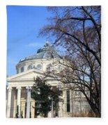 concert hall in Bucharest, Romania Fleece Blanket