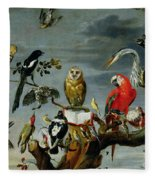 Concert Of Birds Fleece Blanket
