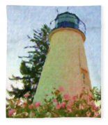 Concord Point Lighthouse Fleece Blanket