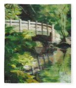 Concord River Bridge Fleece Blanket