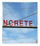 Concrete Company Fleece Blanket