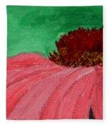 Cone Flower Fleece Blanket