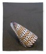 Cone Seashell On The Beach Fleece Blanket