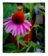 Coneflower Fleece Blanket