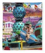 Coney Island Amusement Ride Fleece Blanket